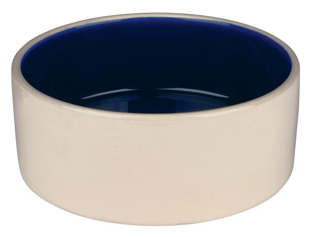 Castron Ceramica 1 l/18 cm Crem cu Albastru 2451