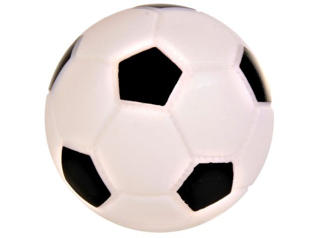 Jucarie Minge Fotbal 10 cm Vinil cu Sunet 3436