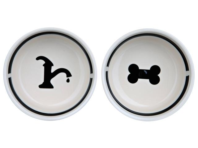 Castron Ceramica Set 2 buc In Suport 2.6 l/25 cm 24643