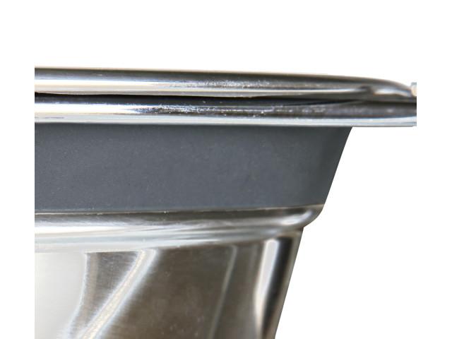 Castron Inox Dublu 2x0.45 l/13 cm cu Suport 25231