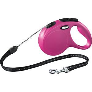 Lesa Flexi Snur Classic M 5 m /20 kg Pink 11796