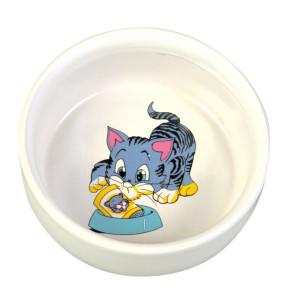 Castron Pisica Ceramica 0.3 l/11 cm 4009