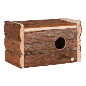 Cuib lemn natural perusi 21x12.5x13cm 5632