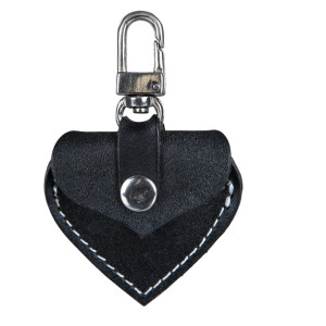 Adresier inima negru 5.5x5cm 19721