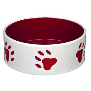 Castron ceramica 1.4l/20cm crem cu rosu 24417