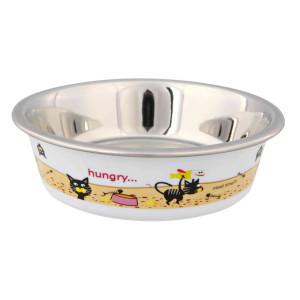 Castron Inoxidabil cu invelis plastic pentru pisici 200 ml/12 cm 25274