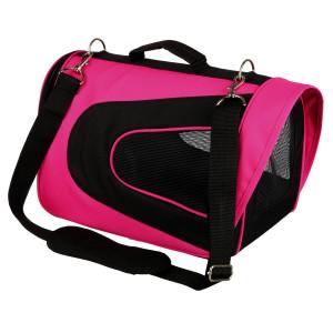 "Geanta transp.""alina"" 22x23x35cm pink/negru 28966"