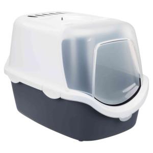 Litiera cu acoperis vico 40*40*56cm grii cu alb 40341