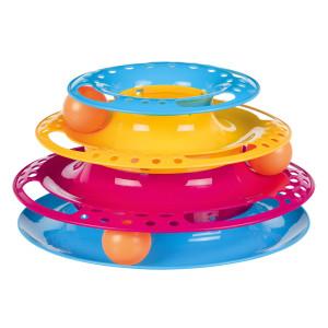 Jucarie Pisica Circuit cu Turn Plastic 25x13 cm 41345