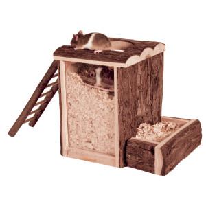 Casuta lemn natural living , 20x20x16cm 62001