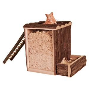 Casuta lemn natural living ,25 x 24 x 20cm 62002