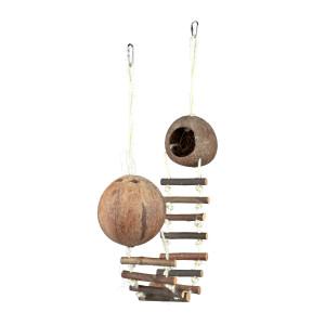 Casuta din cocos cu scarita 13-100cm 62103