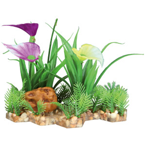 Decor plante din plastic in pietris 13cm 89301
