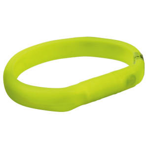 Zgarda/Led XS-S 35 cm/18 mm Verde/Incarcare Usb 12683 (R)