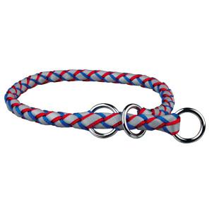 Zgarda coarda cavo l-xl: 52-60cm/18mm albastru/rosu 13642