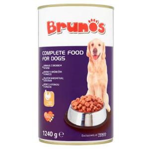 Conserva Dog Brunos 1240g, Pui