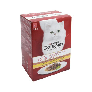 Gourmet Mon Petit 6x50 g Rata/Pui/Curcan (R)