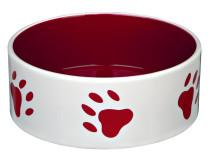 Castron Ceramica 0.8 l/16 cm Crem/Rosu 24416