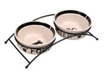 Castron Ceramica Set 2 buc In Suport 0.6 l/15 cm 24641