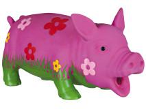 Jucarie Porc cu Floare 20 cm cu Sunet Original 35185