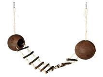 Casuta Din Cocos cu Scarita 13-100 cm 62103